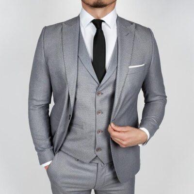 Napoli Gray 3 Piece Suit