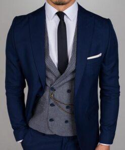 Marine Blue 3 Piece Suit
